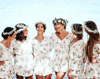 Harper Romper, Bridesmaids Gift, Wild Flower PINK - Code: P149 (A)