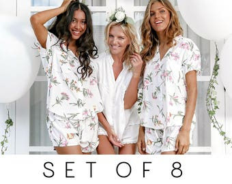 SET OF 8 - 25% Disc - Maggie Pajama Set of 8 - Wild Flower Pink - Code: P043 + P005