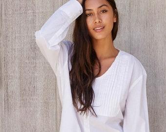 fec8159fd8 Louis Nightshirt - White Cotton Prima - Code: DP024