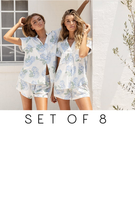 Maggie Pajama Set of 8 Code: P043 Hydrangea PURPLE SET OF 8-25/% Disc P005