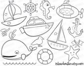 Items similar to Sea Boats First Birthday DIY Invitations