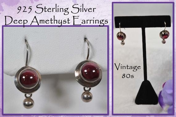 Accents* Vintage NOS Light Purple Square Shaped Pierced Earrings