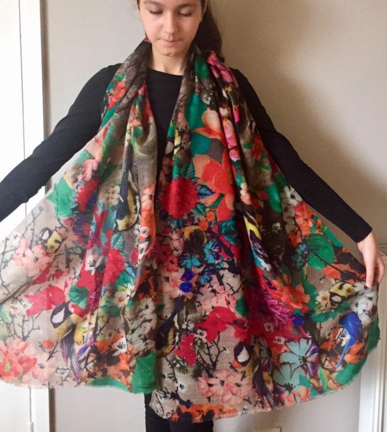 Brown Pashmina Silk Shawl Scarf Wrap Handmade Gift Fine Knit Valentine/'s Day NEW