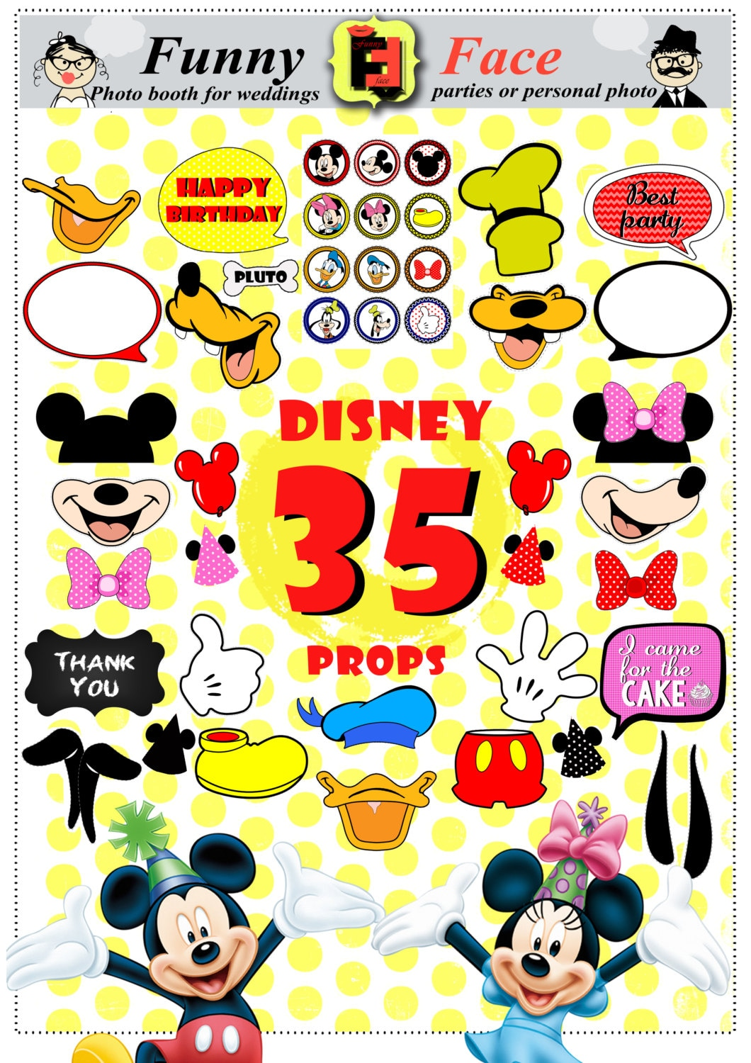 Instant Download 35 Pieces Disney mickey mouse Inspired Photo | Etsy