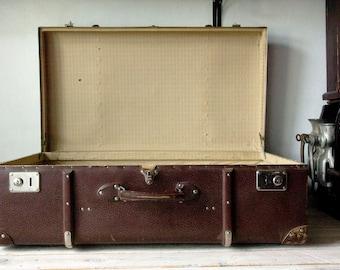 Merveilleux Antique Locker, Trunk Coffee Table, Suitcase Table, Trunk Footlocker,  Bedside Table, Cardboard Suitcase, Rustic Box, Industrial Coffee Table