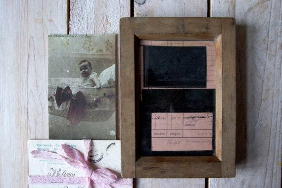 Vintage picture frame, Wooden picture frames, Glass negative, Portrait frames, Photo frame, Framed photo, Shabby chic