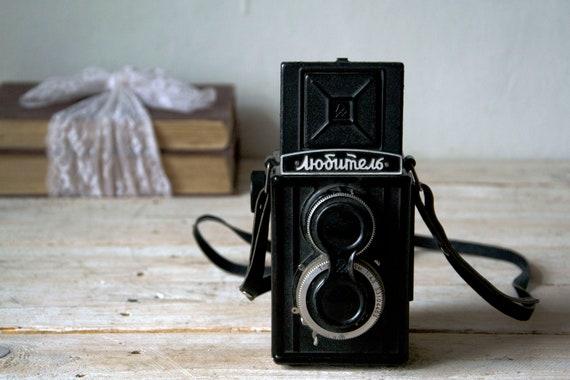 Vintage camera Ljubitel PK1245, Film camera, Lomography camera, Photo camera, Film camera, Film photography, Photography props