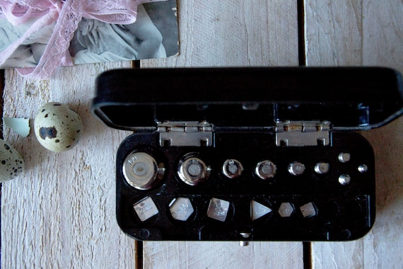Vintage weights set, Scale balance set, Weight mass, Apothecary measuring scale set, Balance weight set, Weight scales balance, Store ware