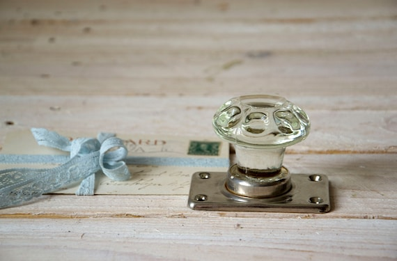 Vintage door knob, Door handle, Glass knob, Shabby chic door knob, Rustic door knob decor, Shabby chic decor, Curtain tie back