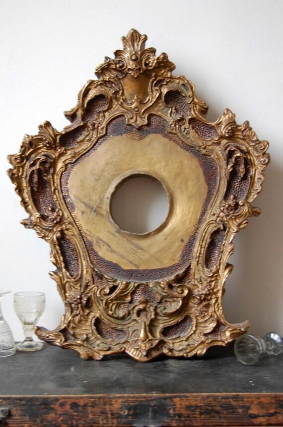 Vintage frame, Large photo frame, Ornate picture frame, Rustic wall decor, Floral oval frame, Shabby chic decor, Shabby chic picture frame