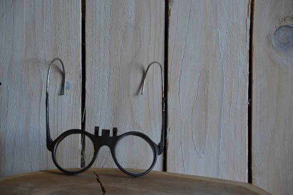 Vintage lenses Headbanded eye glasses Safety goggles protective glasses Steampunk spectacles Old safety glasses Motoring goggles