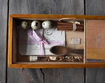 Vintage wooden box, Old box, Vintage storage box, Small wooden chest, Rustic storage, Wedding decor, Storage box, Primitive box