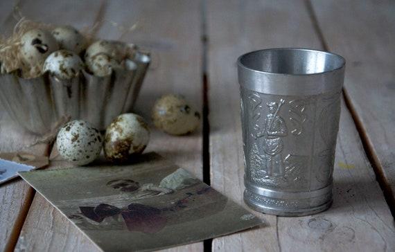 Vintage pitcher, Pewter pitcher, Pewter jug, Pewter vase, Pitcher vases, Tiny pewter jar, Photography props