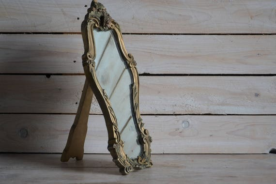 Vintage mirror set, Ornate framed mirror, Shabby wall decor, Wall mirror, Mirror with floral frame, Shabby chic decor, Shabby chic mirror