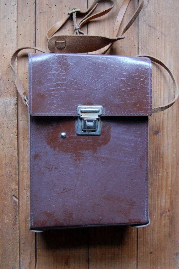 Vintage camera case, Hard case, Camera lens case, Pouch, Motocyclist bag, Handbag, Camera case, Steampunk