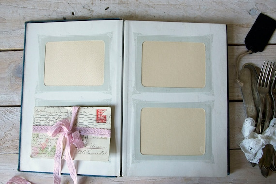 Vintage photo album, Postcard album, Scrapbook lists album, Scrapbooking supplies, Memory book sheets, Sketchbook, Postcard album