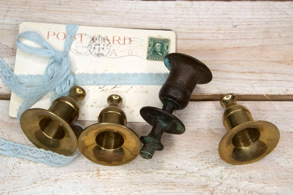 Vintage brass candle holder, Metal candlestick holder, Candeliere, Candle holder centerpiece, Wedding decor, Table centrepiece, Shabby chic