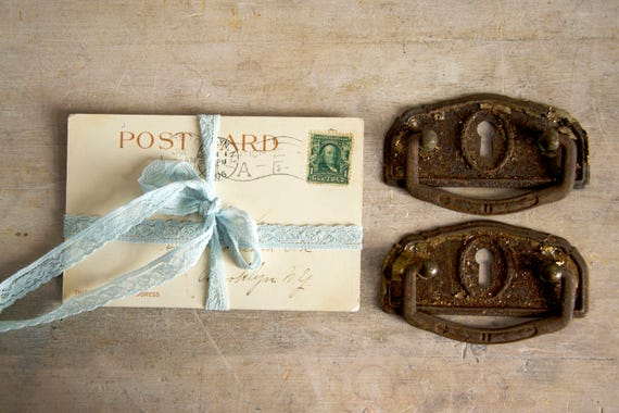 Vintage door knobs, Vintage cabinet knobs, Drawer or door pull, Metal handles pair, Drawer knobs, Furniture supplies, Shabby chic door knobs