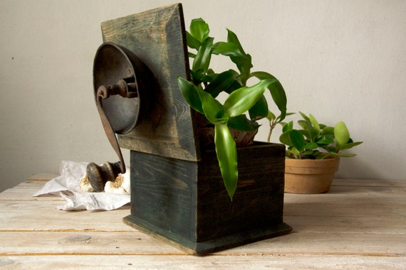 food photography props vintage coffee mill wood metal coffee grinder vintage coffee grinder kitchen decor Old coffee grinder