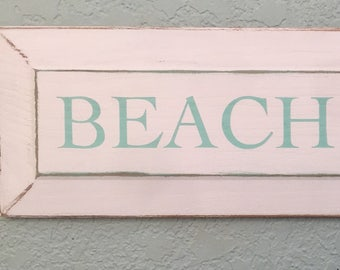 Distressed beach house wooden sign, rustic decor, nautical decor