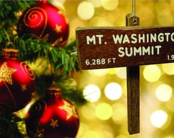 Mount Washington Summit sign Christmas tree ornament / Cake topper