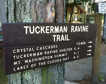 Wood Trail Signs
