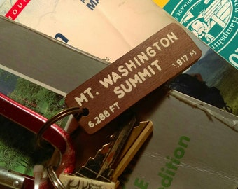 Mt. Washington summit sign keychain