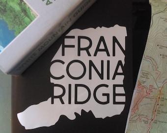 Franconia Ridge vinyl decal