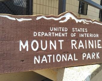 Rainier NP sign
