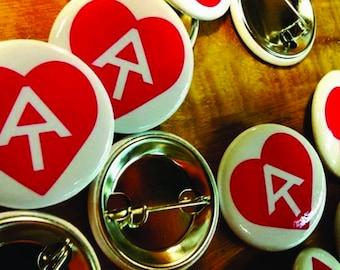 "Appalachian Trail Love 1.25"" round pin back button"