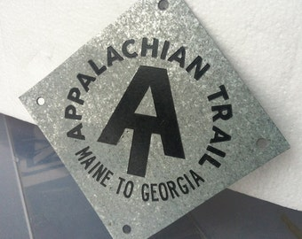 Appalachian Trail Replica Metal Insignia Placard Sign