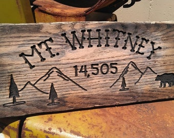 Mt Whitney sign