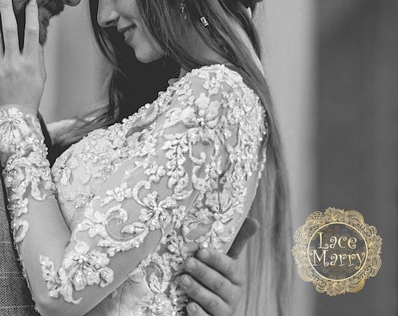 Matching Lace Boleros Custom Made Tops Wedding Dress Set Matching Flower Girl Dresses Personalized Wedding Dresses Wedding Separates