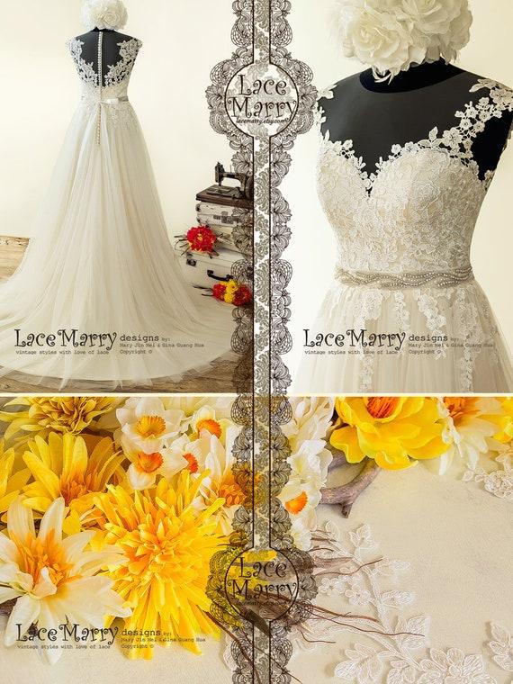Light Wedding Dress in Bohemian Style Beach Wedding Dress, Boho Wedding Dress, Summer Wedding Dress, A Line Wedding Dress, Bridal Dress