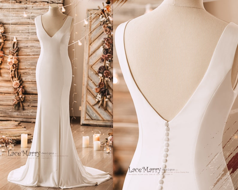 CLEMENTINE / Simple and Elegant Wedding Dress from Luxury image 0