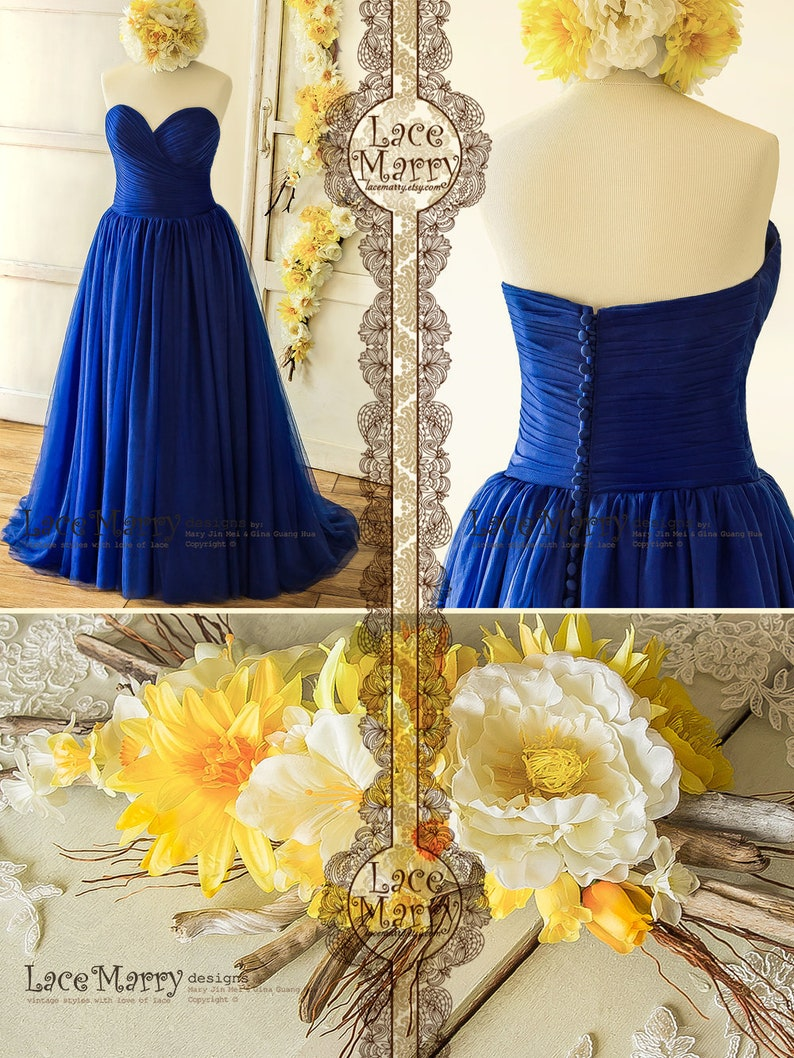 Blue And Yellow Wedding Gown - Ficts