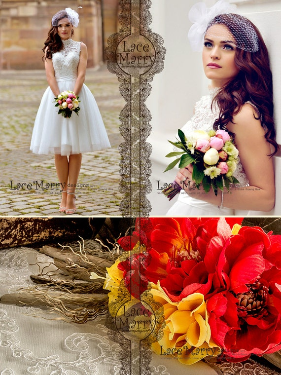 Custom Short Wedding Dress Knee Length Wedding Dresses Short Etsy