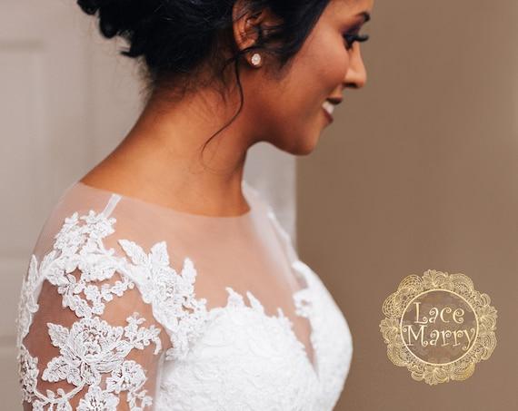 Wedding Dresses Bolero.Personalized Wedding Dress Custom Wedding Gown Matching Flower Girl Dress Matching Veil Matching Lace Bolero Custom Made Wedding Dress
