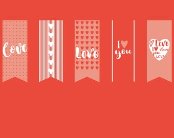 I love you card greeting card anniversary Valentine's Day card Pantone Color