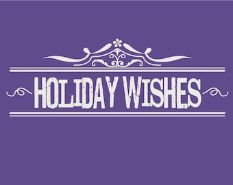 Holiday Wishes Instant download Greeting Card pantone color