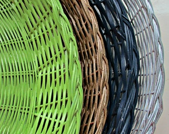 Wicker Paper Plate Holders, Papaer Plate Supports, Outdoor Dining, Summer Picnics, Outdoor Parties, Tableware, Table Decor, Fun and Games