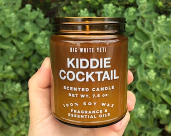 Kiddie Cocktail Soy Candle- 9oz Amber Jar