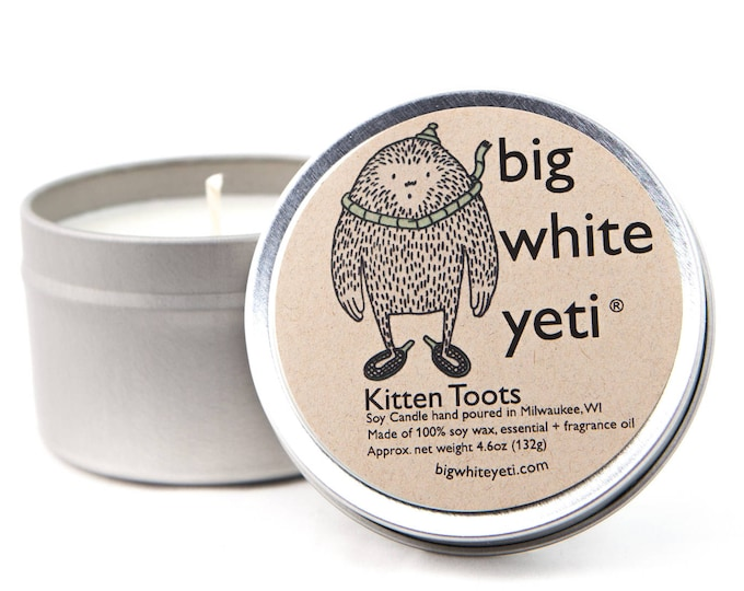 Kitten Toots Soy Candle- 6 Ounce Tin