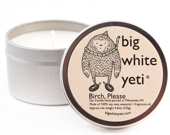 Birch, Please Soy Candle- 6oz Tin