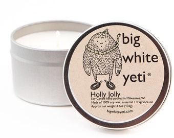 Holly Jolly  Soy Candle- 6oz Tin