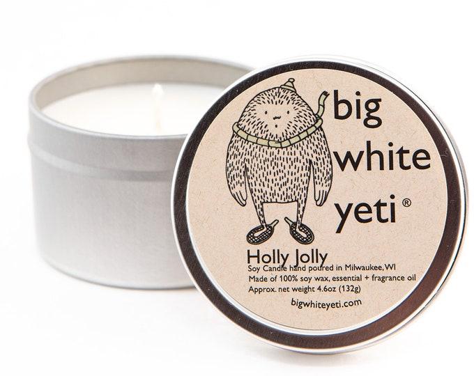 Holly Jolly  Soy Candle- 6oz Tin