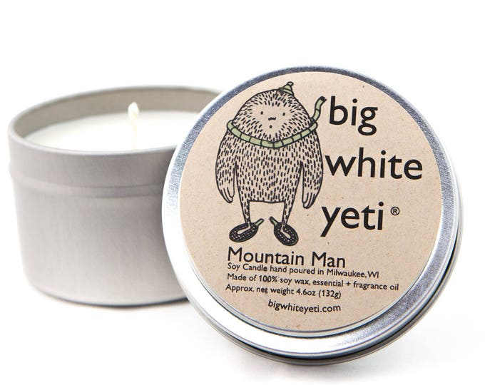 Mountain Man Soy Candle- 6oz Tin