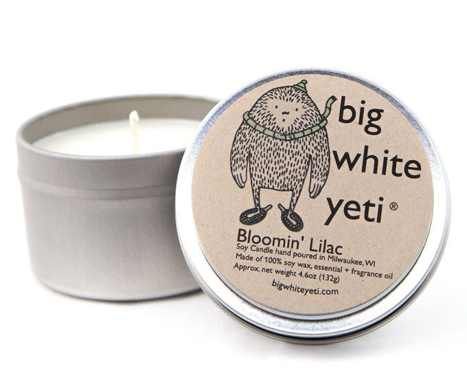 SALE! Bloomin' Lilac Soy Candle- 6 Ounce Tin
