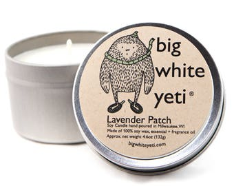 Lavender Patch Soy Candle- 6 Ounce Tin