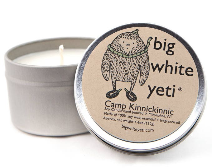 Camp Kinnickinnic Soy Candle- 6oz Tin